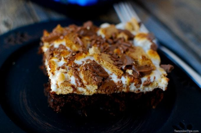 Super easy smores brownies recipe using a box mix! You can't tell that these are not homemade they turn out so great!