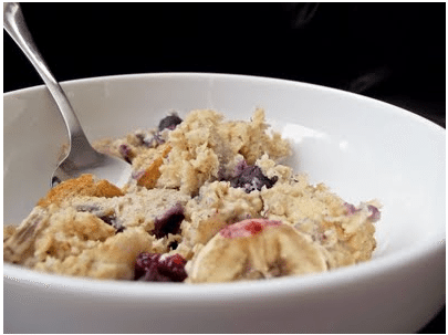 Baked Banana Blueberry Oatmeal