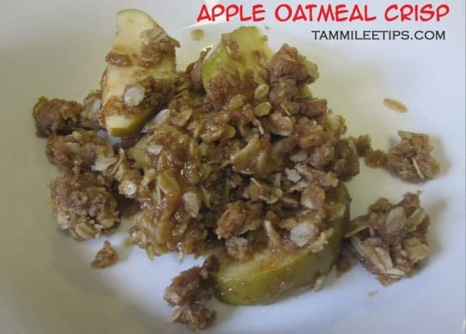Apple Oatmeal Crisp – Super easy and yummy!