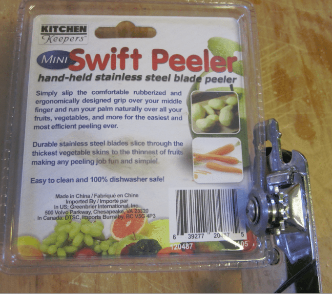 can opener to open packages