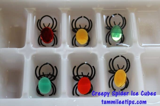 Creepy Spider Ice Cubes