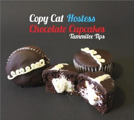 Copy Cat Hostess Chocolate Cupcakes
