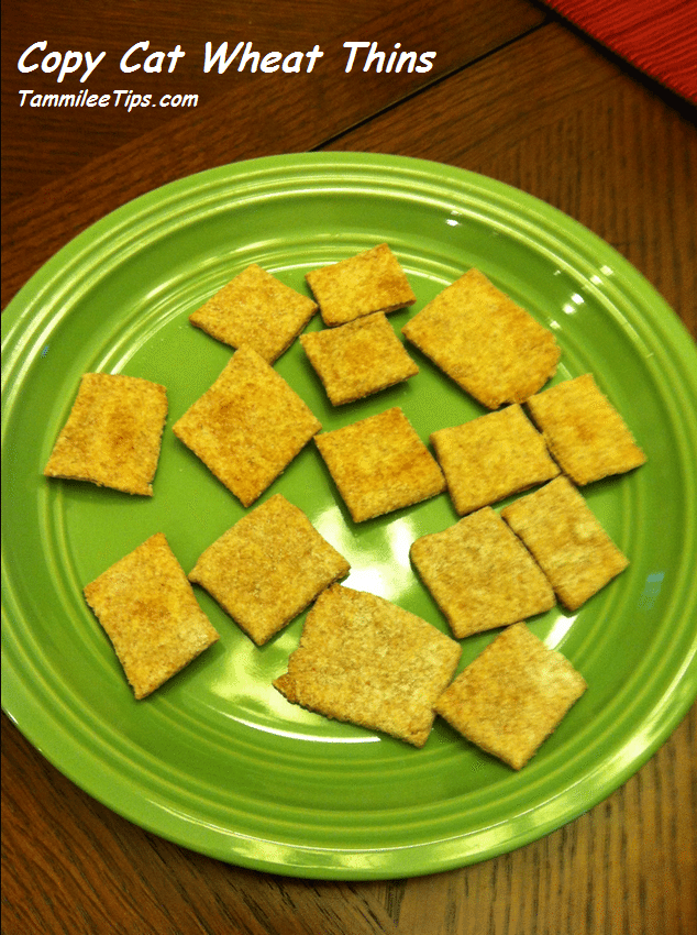 Copy Cat Wheat Thins