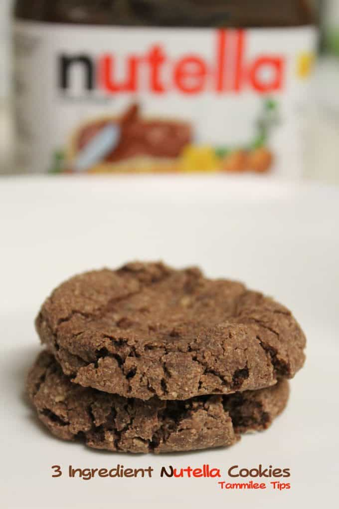3 Ingredient Nutella Cookies! So easy and So Good