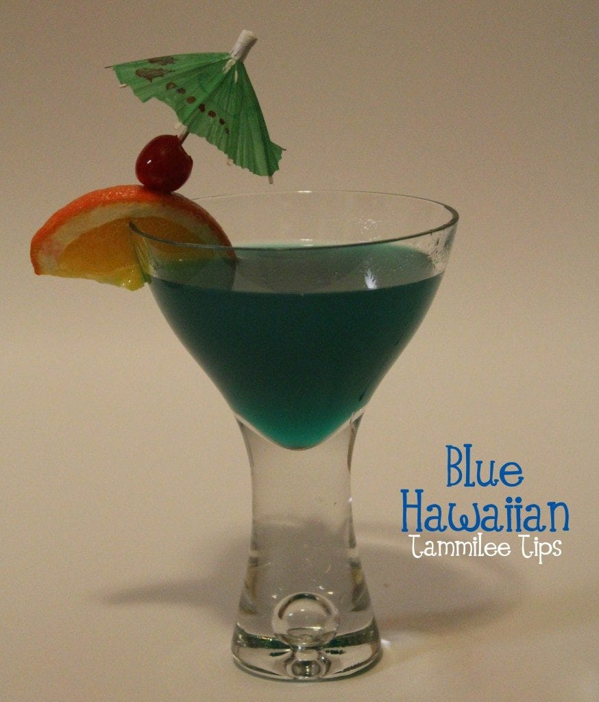 Blue Hawaiian Tropical Drink