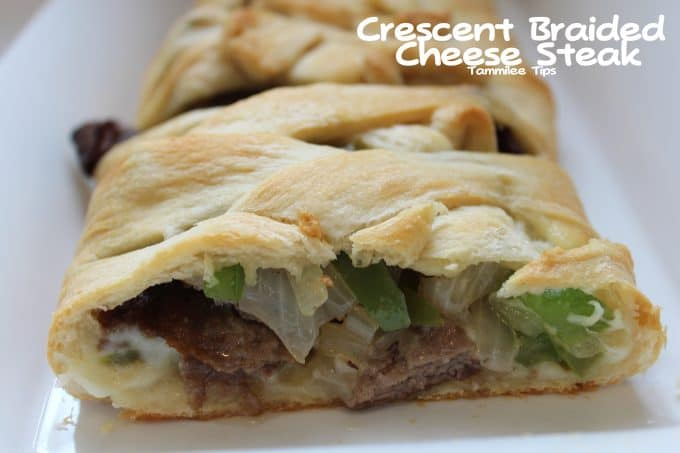 Crescent Braided Cheese Steak Recipe