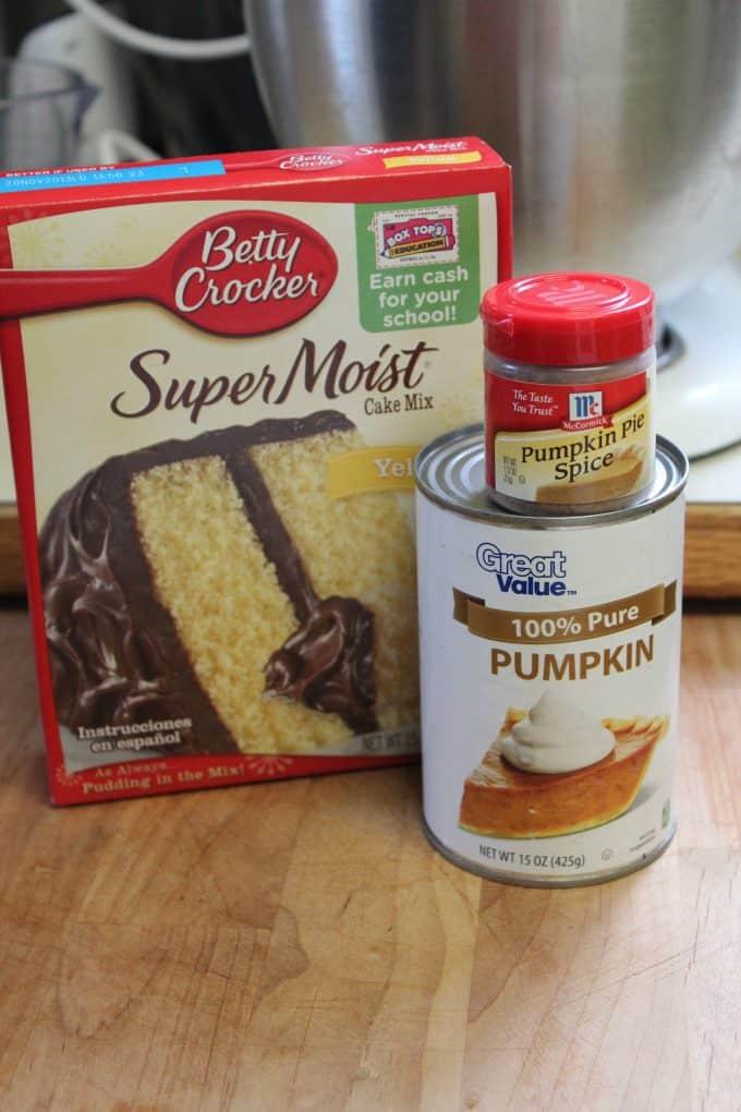 Ingredient Pumpkin Spice Cake Mix