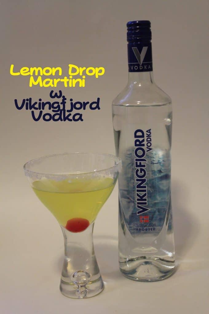 Lemon Drop Martini with Vikingfjord Vodka