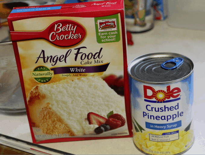 Recipe For Angel Food Cake Made With Crushed Pineapple