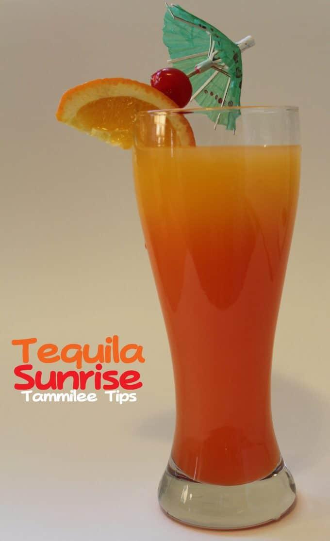 Tequila Sunrise Cocktail Recipe!