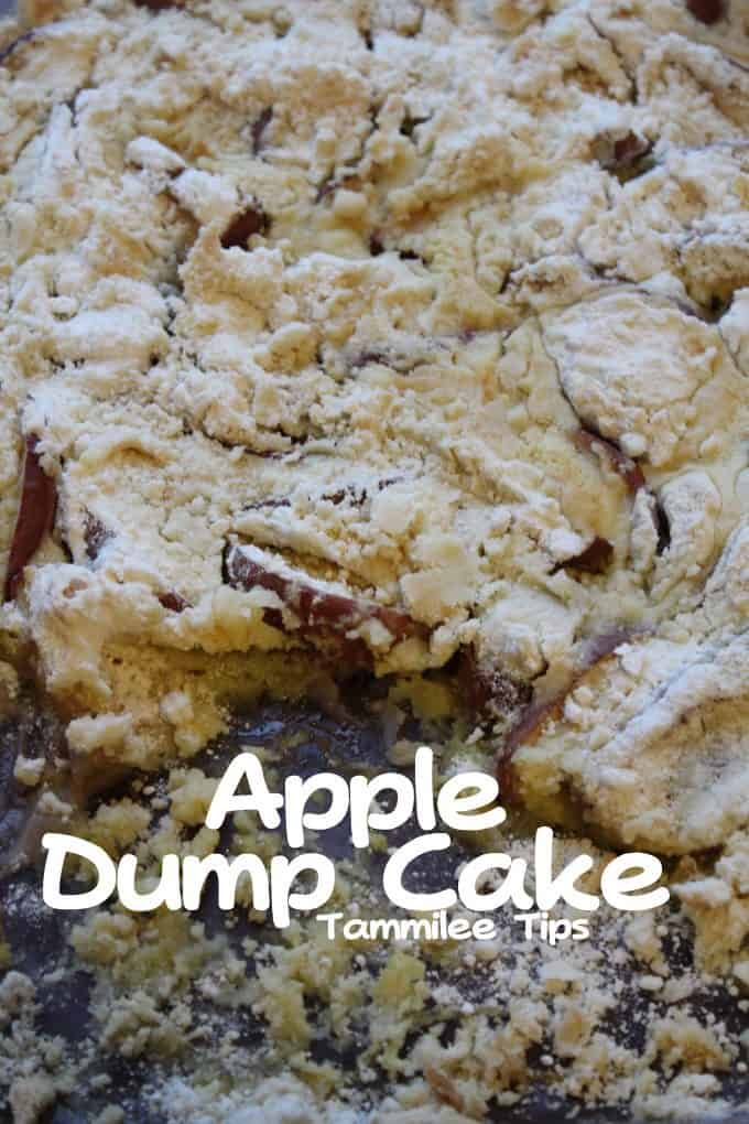 3 Ingredient recipe for super easy Apple Dump Cake Recipe! This recipe is easy to make and tastes amazing. Perfect for fall parties and dinners.