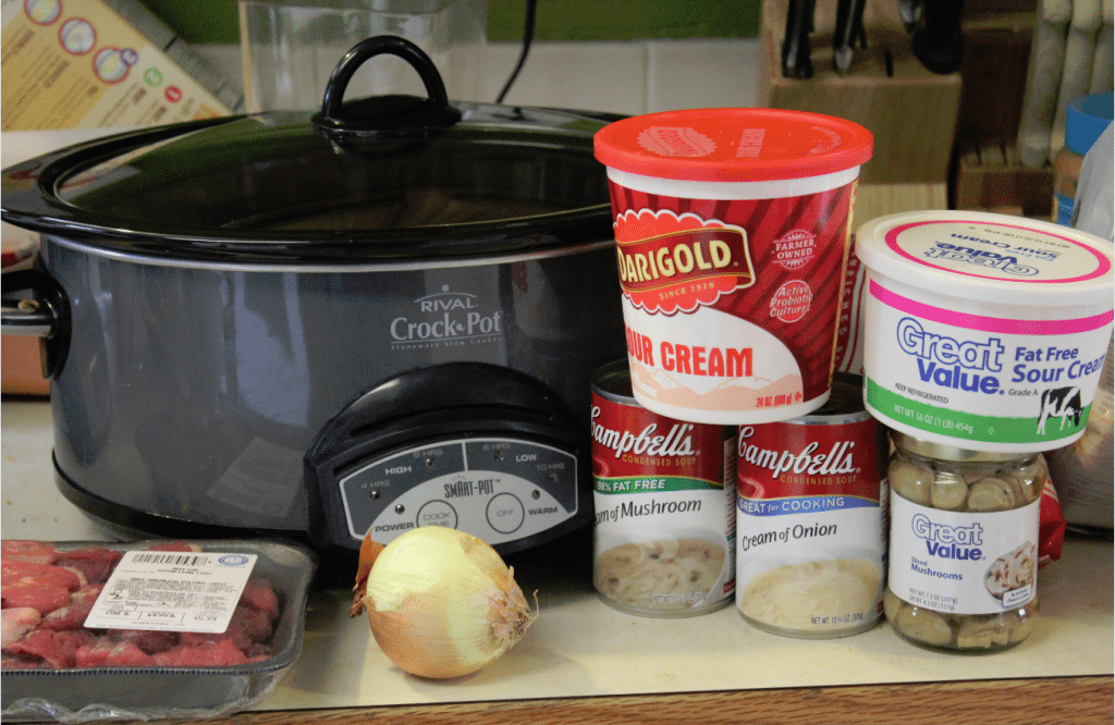 Crock Pot Beef Stroganoff Ingredients