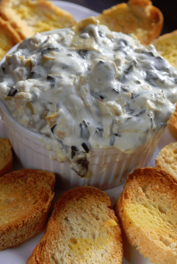 Crock Pot Spinach Artichoke Dip -Tammilee Tips