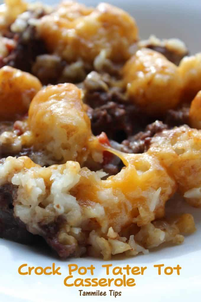 Slow Cooker Crock Pot Tater Tot Casserole Recipe