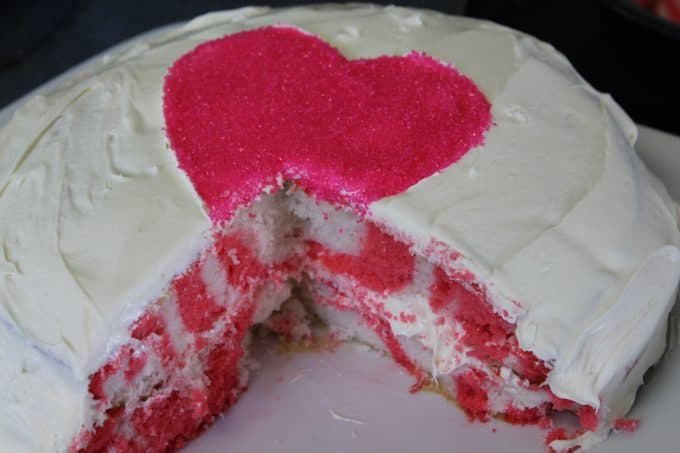 Pink and White Zebra Print Cake Recipe