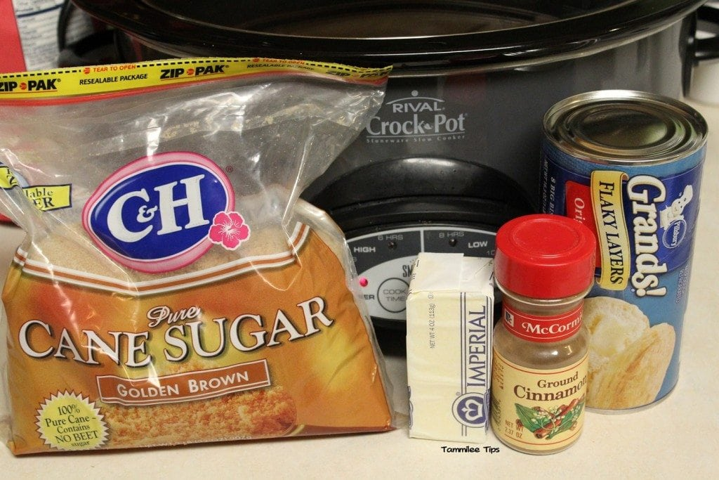 Crock Pot Monkey Bread ingredients