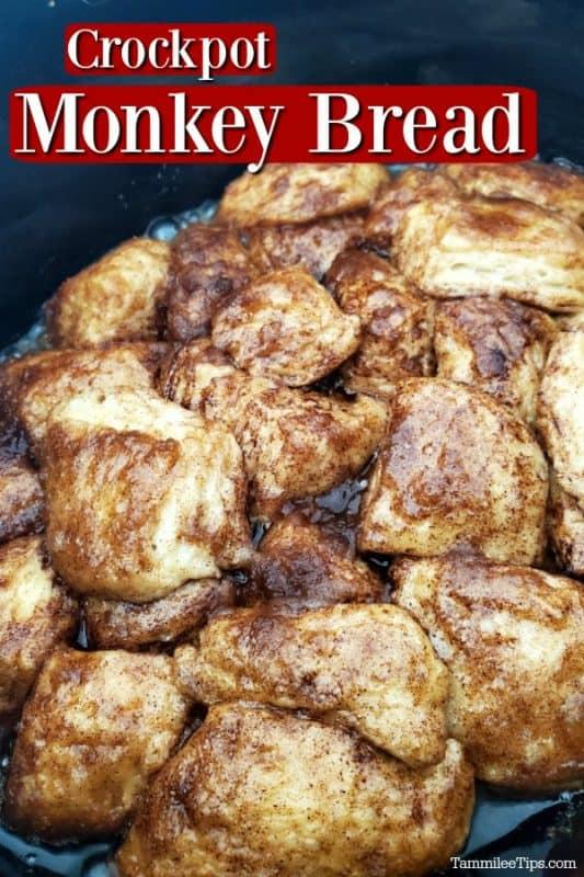 Crockpot Monkey Bread in the slow cooker