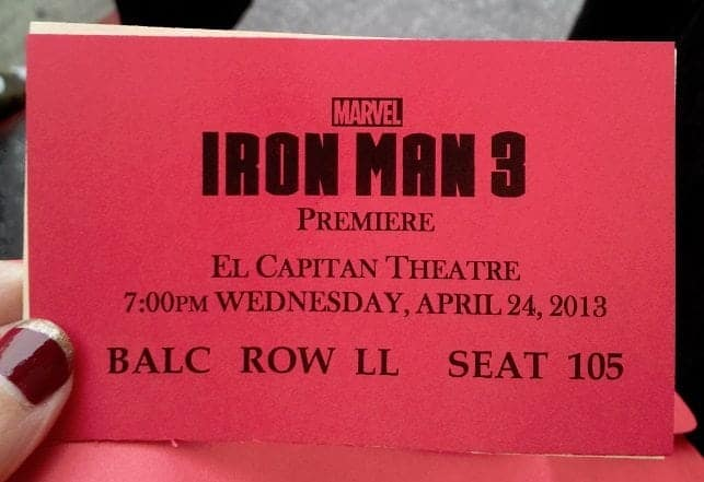 Iron Man 3 Hollywood Red Carpet Premiere at the El Capitan Theatre! #IronMan3Event