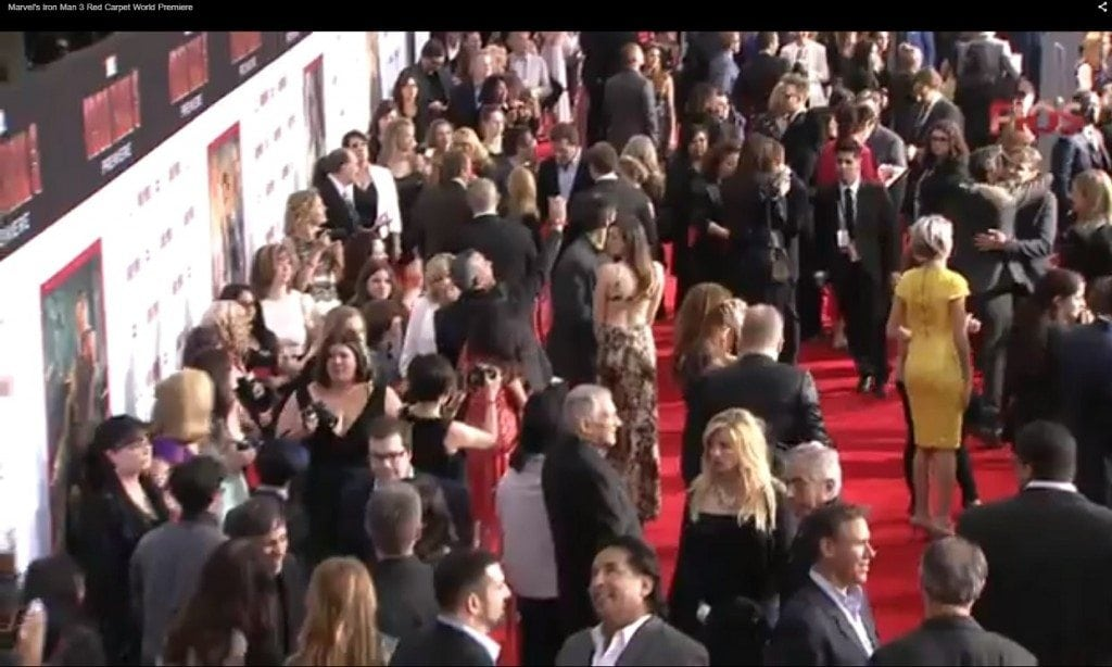 Iron Man 3 Red Carpet Video Shot 1