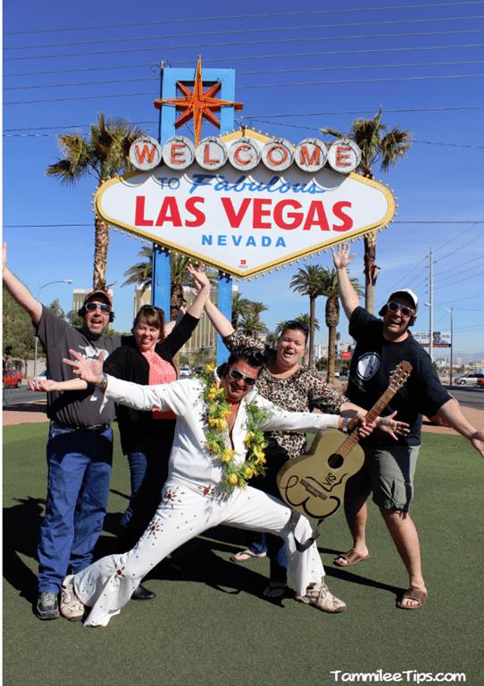 Meeting Elvis at the Las Vegas Sign