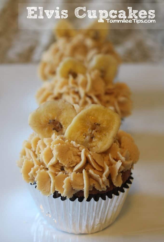 Elvis Cupcakes aka Banana Cupcakes with Peanut Butter Frosting
