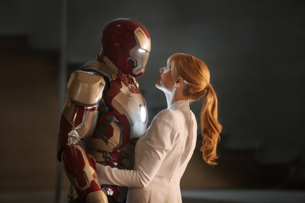 Iron man and Pepper Potts together Iron Man 3 movie