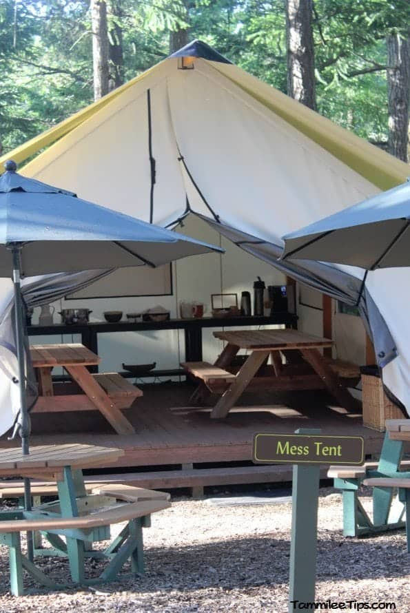 Lakedale Resorts Glamping Mess Tent
