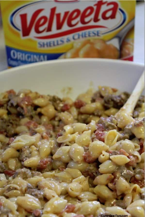 Tex Mex Velveeta Shells and Cheese