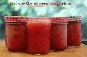 Freezer Strawberry Margaritas