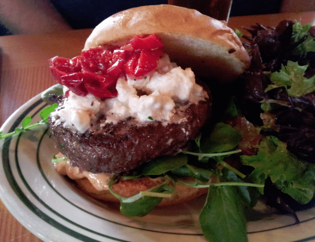 Cask and Schooner Restaurant Lamb Burger