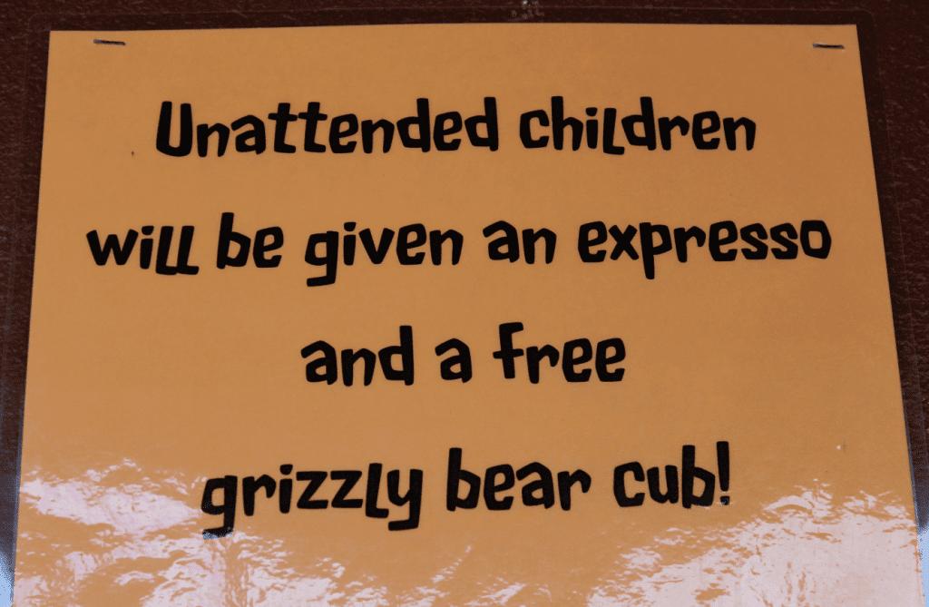 Glacier National Park Unattended Children