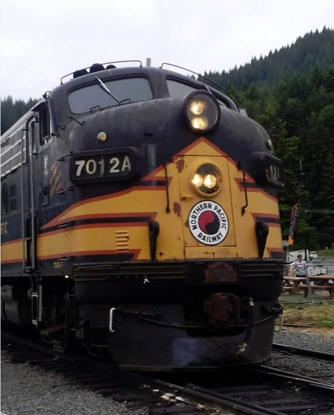 Mount Rainier Scenic Railroad Train Engine