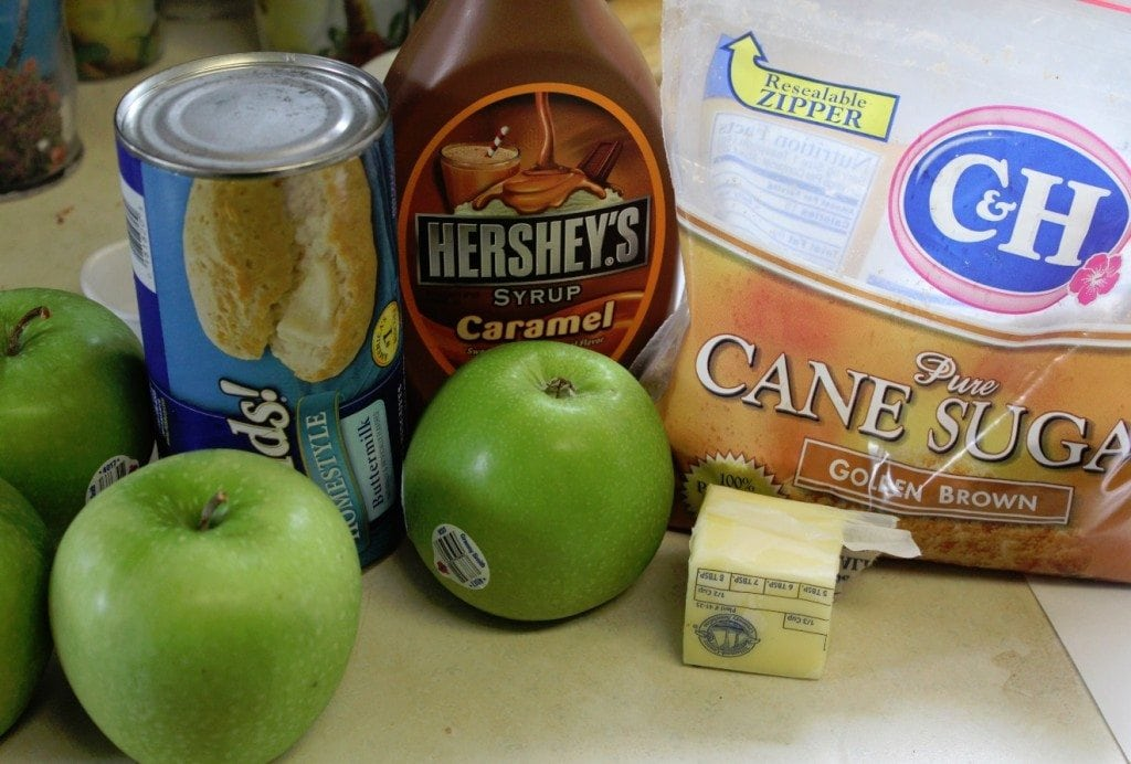 Caramel apple Biscuits ingredients