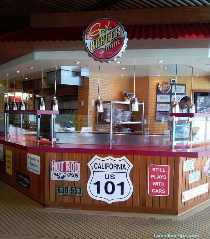 Guy's Burger Joint on the Carnival Breeze