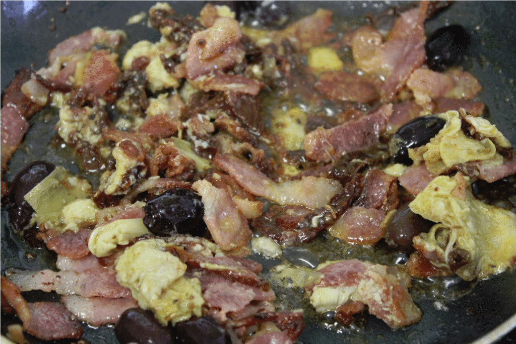 Farmland Bacon Egg Scramble Cooking