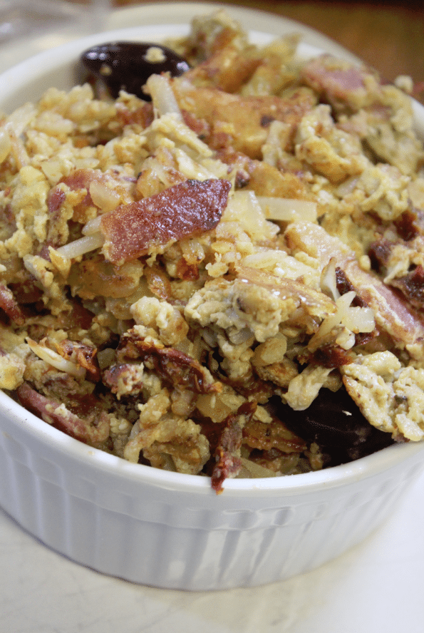 Mediterranean Bacon Egg Scramble Recipe
