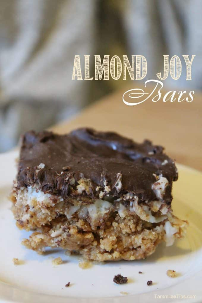 Almond Joy Bars and a treasured family cookbook