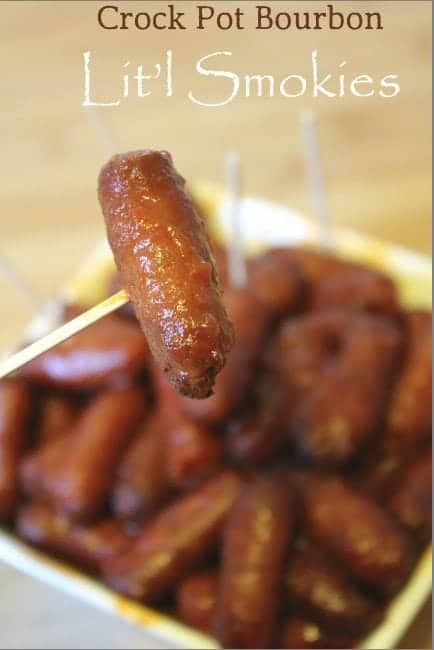 Slow Cooker Crock Pot Bourbon Lit'l Smokies Recipe