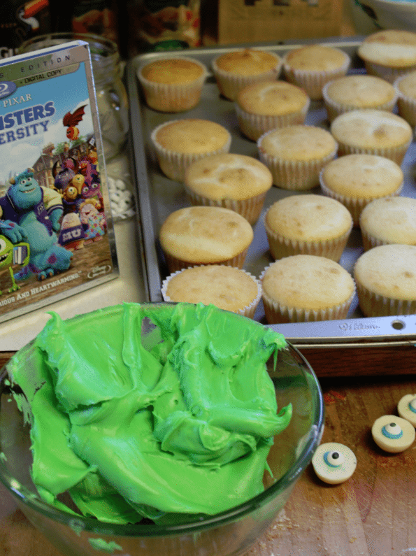 Monsters University Cupcakes Green Icing