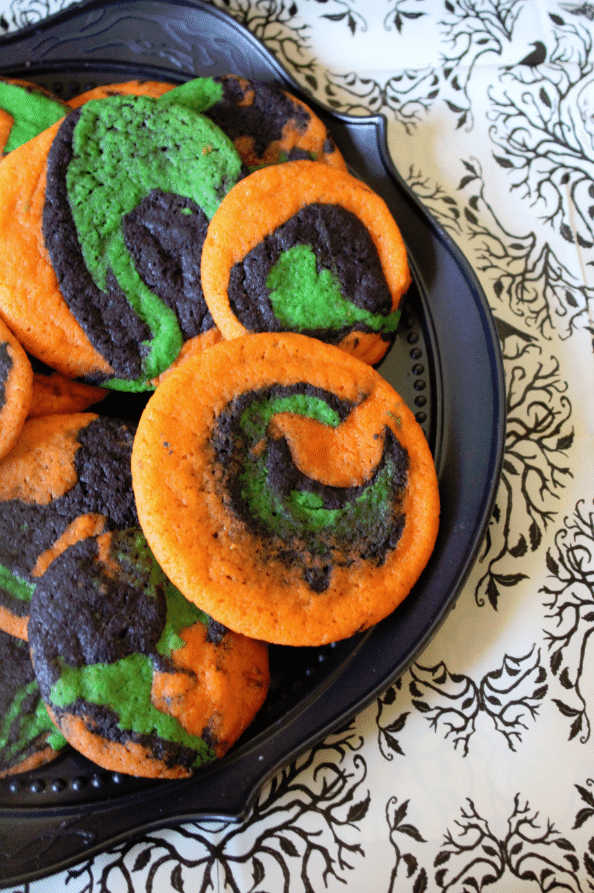 Not so spiral halloween cookies 2