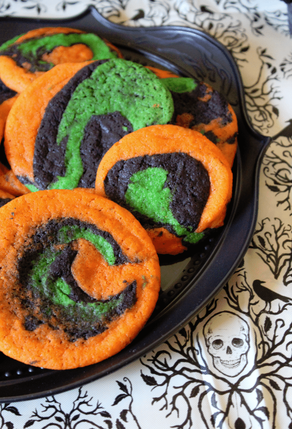 Not so spiral halloween cookies