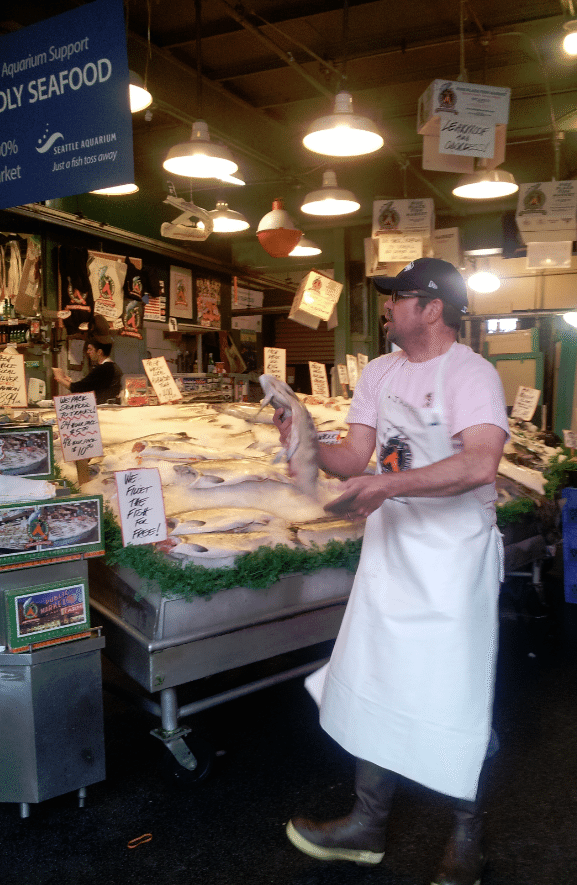 Seattle Pike Place Market Fish Monger