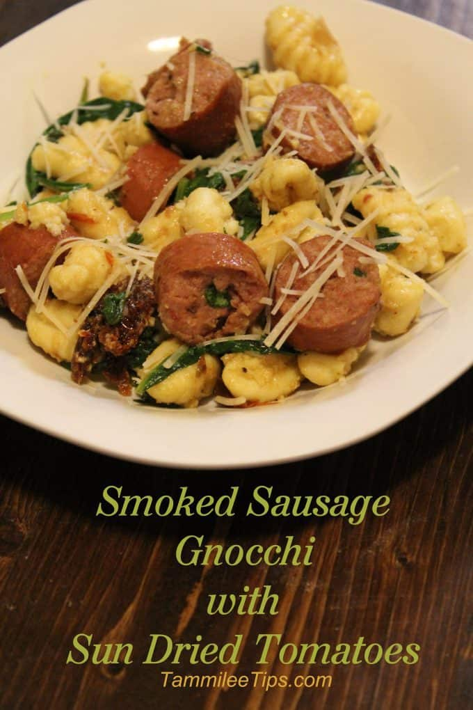 Smoked Sausage Gnocchi with Sun Dried Tomatoes
