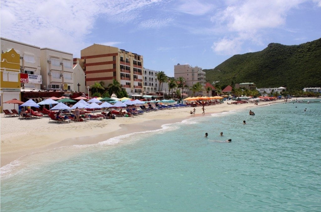 St Maarten Beach view