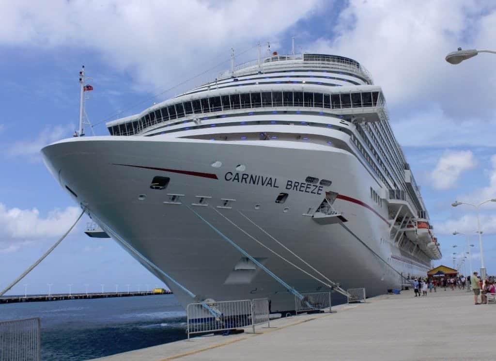 St Maarten Carnival Breeze Docked