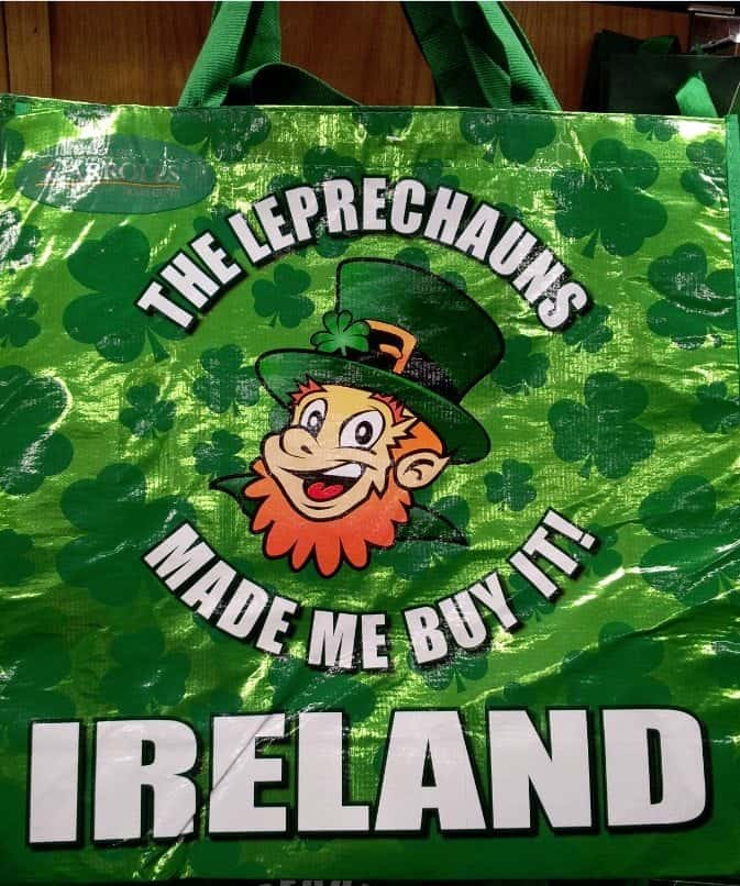 Oh the things you see at a Dublin Ireland Tourist Gift Shop