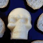 molded skull butter