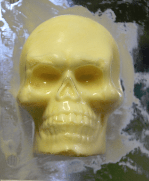 skull butter in mold