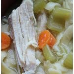 Easy Homemade Slow Cooker CrockPot Chicken Noodle Soup Recipe! The crock pot does all the work and you have a family meals that is the perfect winter comfort food.