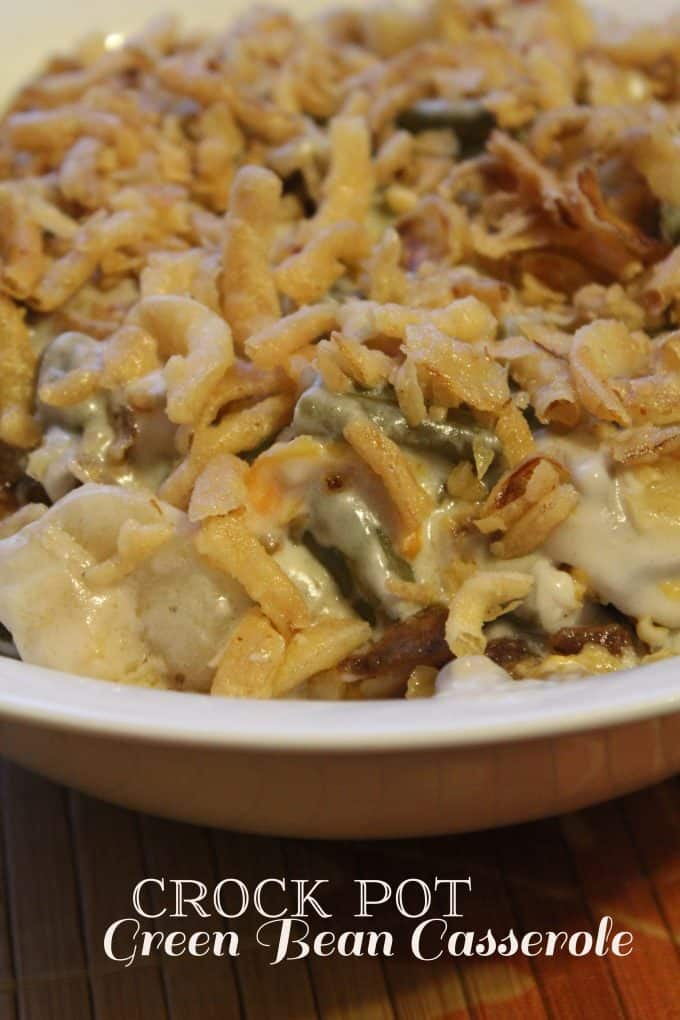 Crock Pot Green Bean Casserole